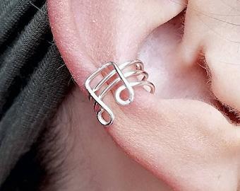 Music Notes Ear Cuff