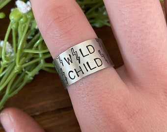 Punchy metal stamped adjustable ring,western,boho,ring,hippie,western style,cowgirl,country girl,metal ring,thumb ring,southwestern