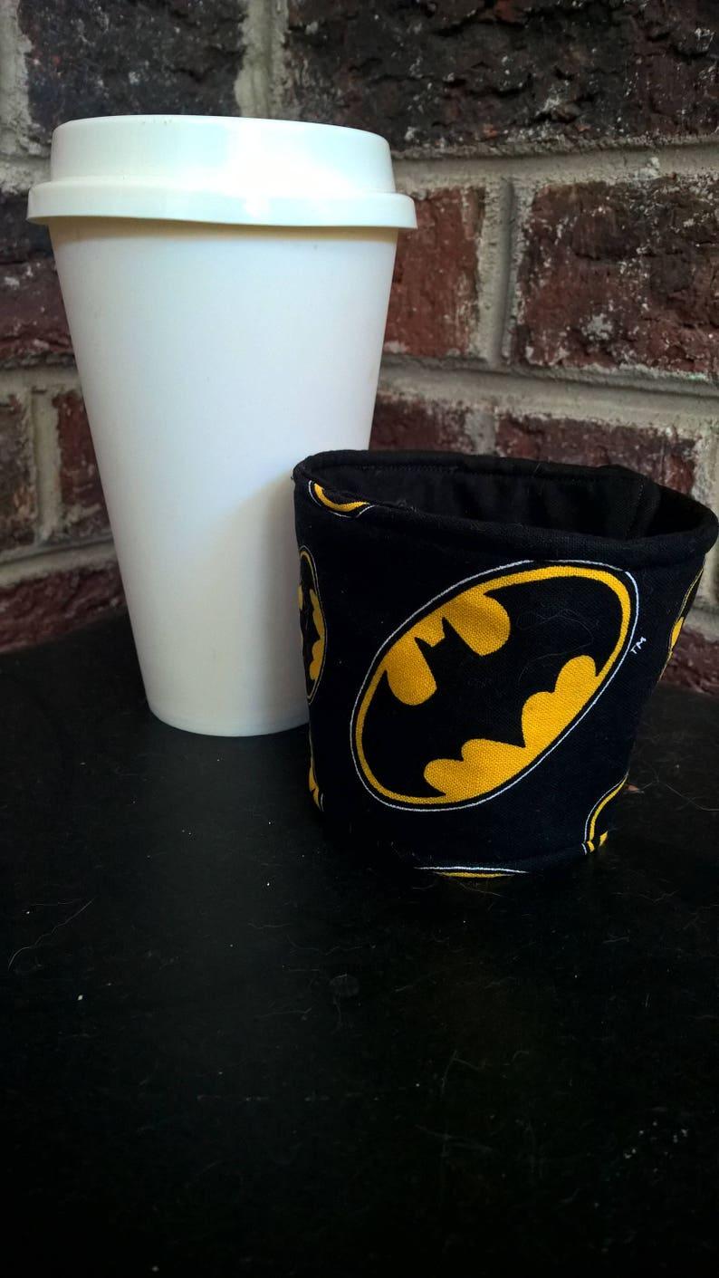 Batman DC disposible cup sleeve.eco friendly cozy. image 0