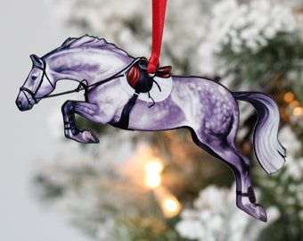 Horse Gifts for Girls Equestrian Ornament Horse Lover Gift Handpainted Ornament Veterinarian Gift Suncatcher Horse Ornament Horse Gifts