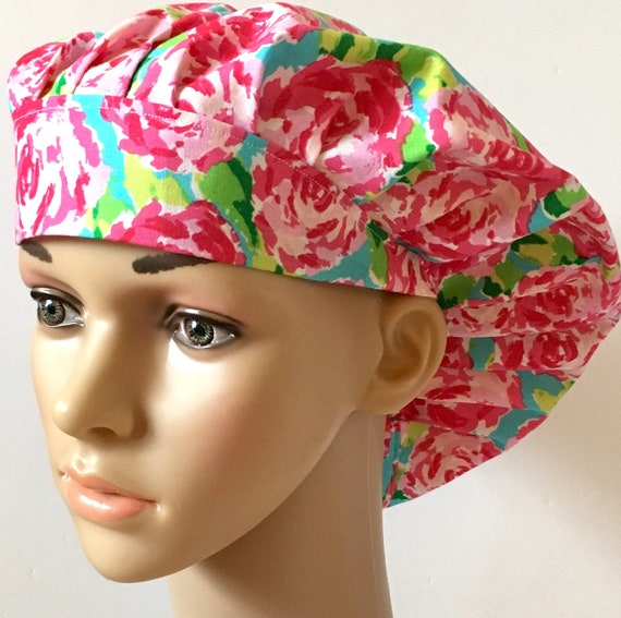 0890d38b783 Lilly Pulitzer Inspired Summer Flowers Women s Surgical