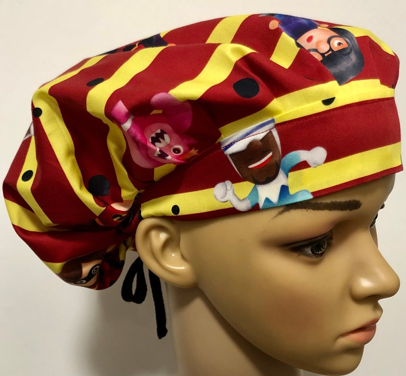 Women\u2019s Bouffant Surgical Scrub Hat Elastic with Toggle or Ties The Incredibles