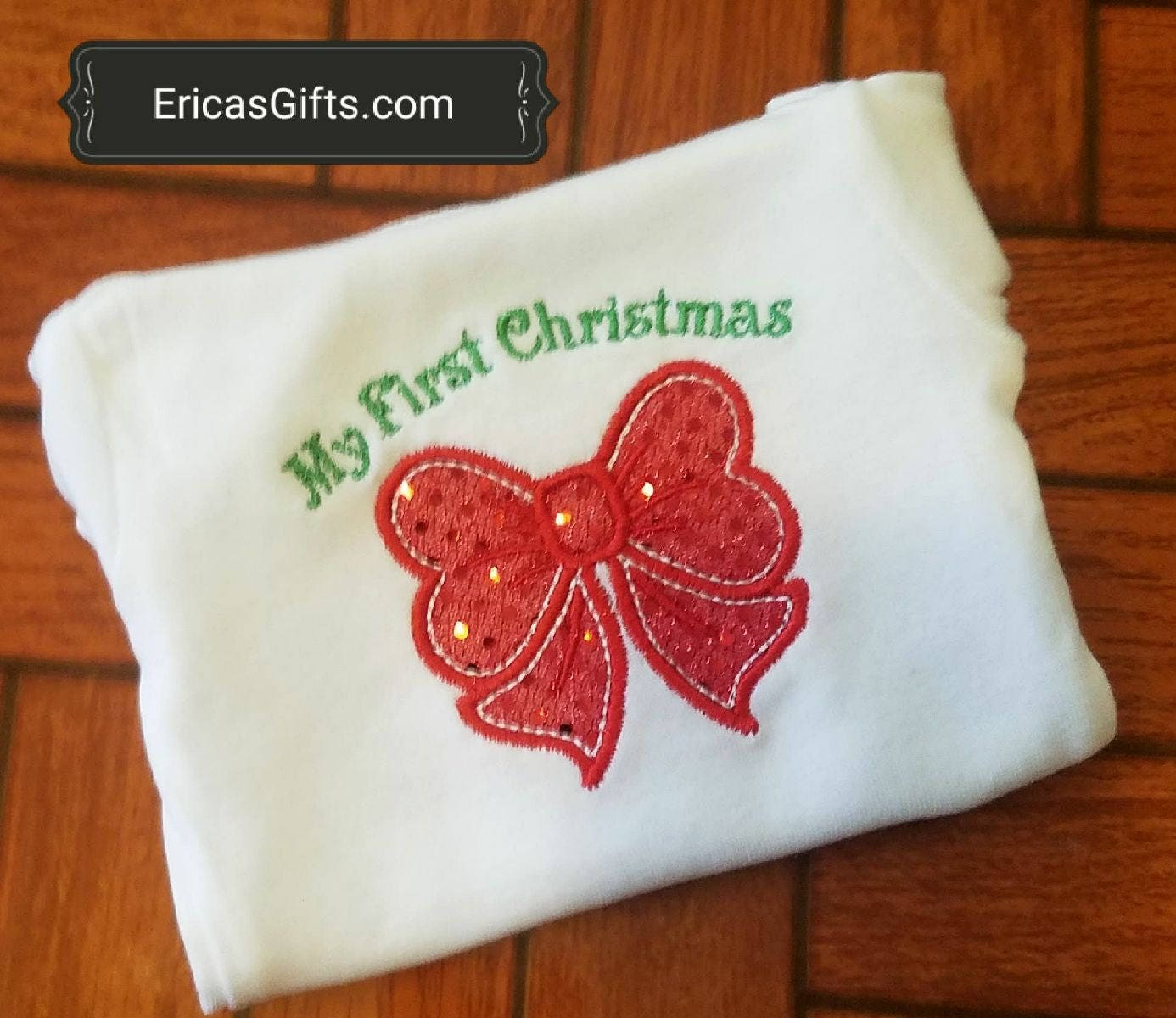 My First Christmas Personalized Embroidered Shirts Or Onesies Girls