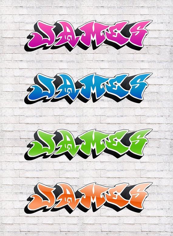 Graffiti Wand Aufkleber Name Aufkleber Personalisierte Etsy