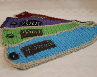 Personalized Crochet Coffee Sleeves