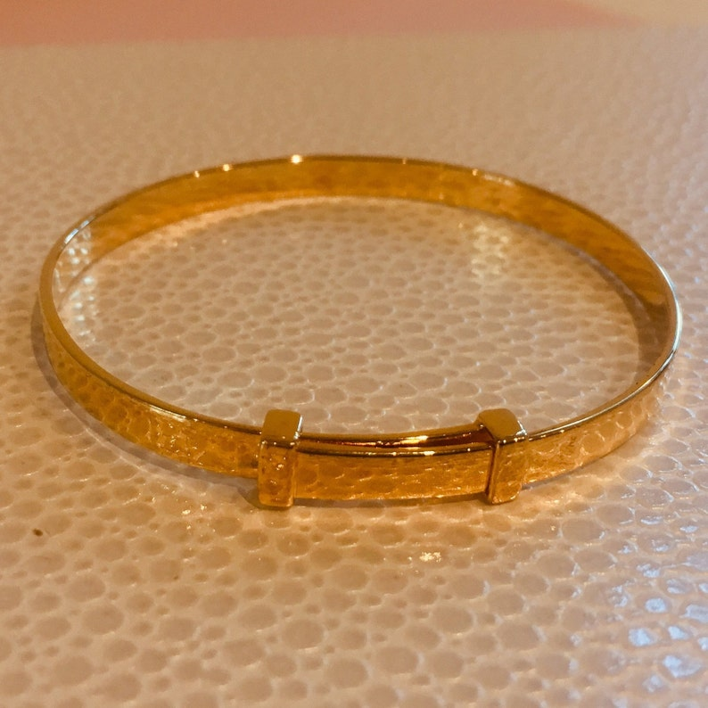 SAMPLE SALE Gold Vermeil Signature Christening Bangle