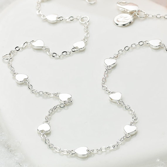 925 Sterling Silver Girls Dream Three Heart Necklace Molly B London