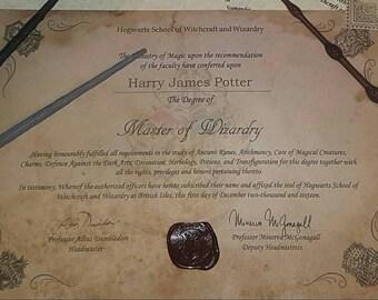 Wizarding School Diploma