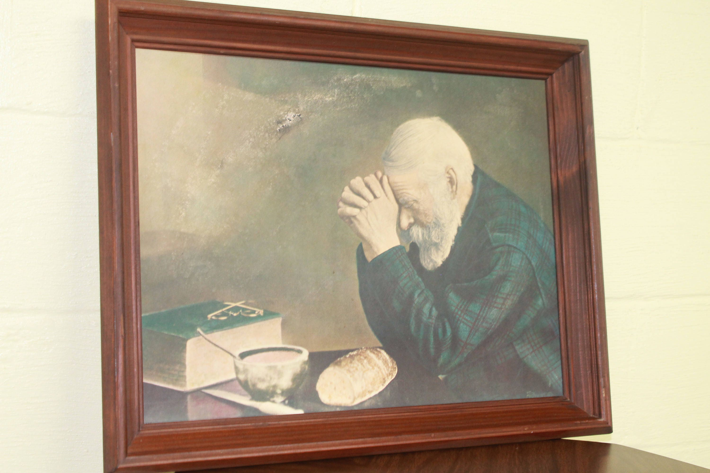Man Praying With Bread Wwwtopsimagescom