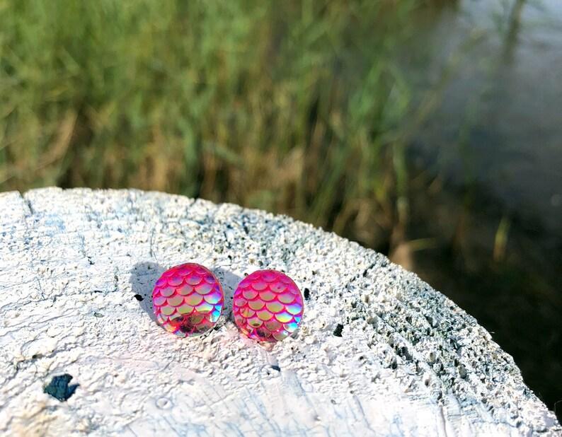 Studs Mermaid mermaid earrings studs in changierendem image 0