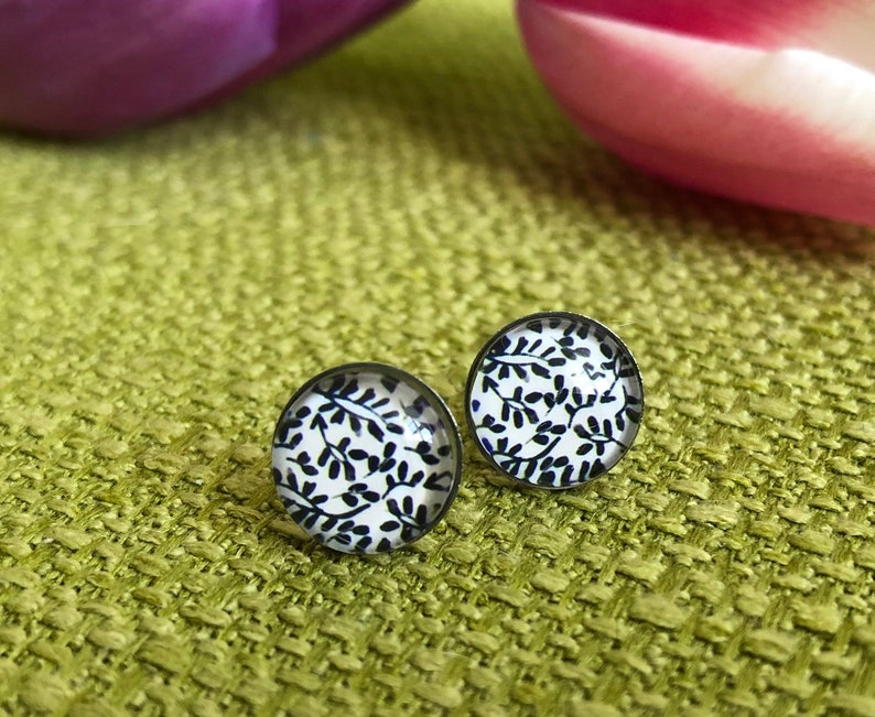 Small earrings made of surgeon steel 10 mm stainless steel image 0