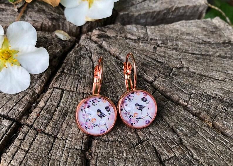 Earrings Rose gold Vintage bird vintage earrings rose gold image 0