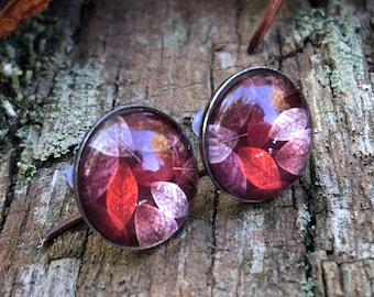 Stainless steel earrings autumn dance, autumn earrings, hypoallergenic, surgical steel earrings, leaf clover, autumn leaves, stainless steel earrings