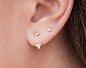 Minimalist Clover Beaded Ear Jacket Earrings