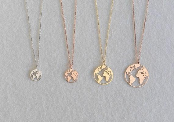 descuento especial de numerosos en variedad mejores telas Collar Mundo, Collar del mundo en plata, Collar bola del mundo, Collar  mapamundi, Collar tierra, Collar dorado mundo, collar plata mundo