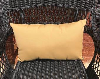Sunbrella Canvas Wheat Pillow Water Resistant