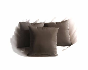 3 Pack of Sunbrella Canvas Charcoal Pillow Water Resistant