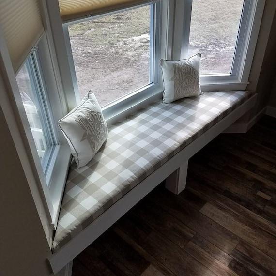 Bay Window Seat Cushion Trapezoid Bench Seat Custom Cushion Etsy