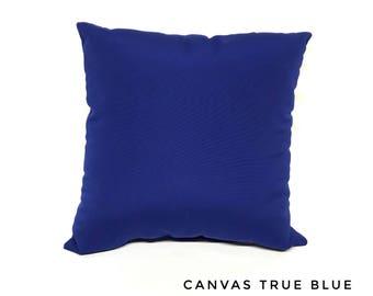 Sunbrella Canvas True Blue Pillow Water Resistant