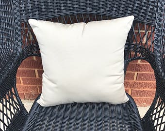 Sunbrella Canvas Beige Pillow Water Resistant