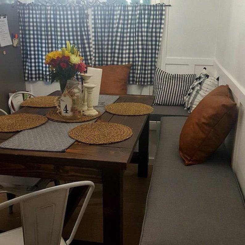 2 Custom Size Sunbrella Bench Cushions | Kitchen Banquette Cushions | Seat  Cushions | Chair Pads