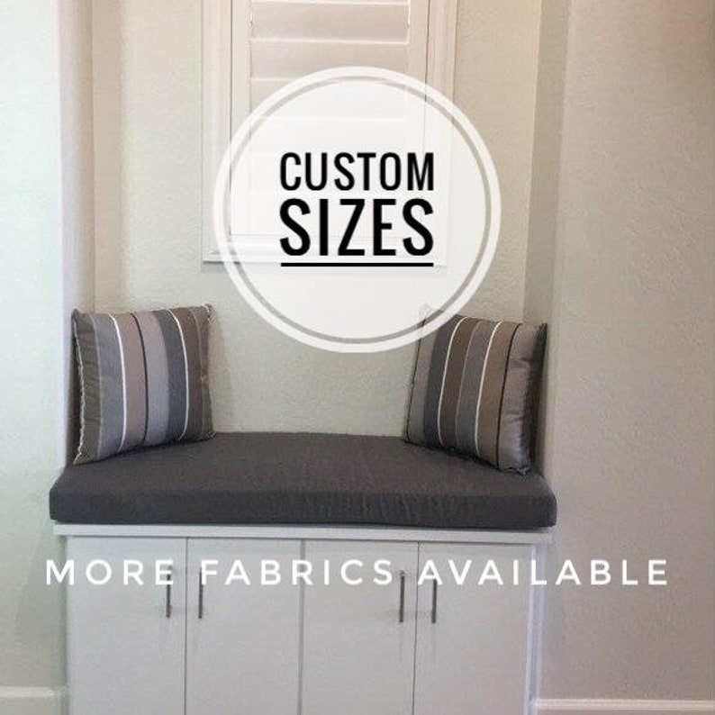 Custom Size Sunbrella Bench Cushion | Mudroom Cushion | Reading Nook  Cushion | Halltree Cushion | Seat Cushion Made To Order