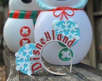 PRE ORDER Land or World Snowflake Retro Sign Ears