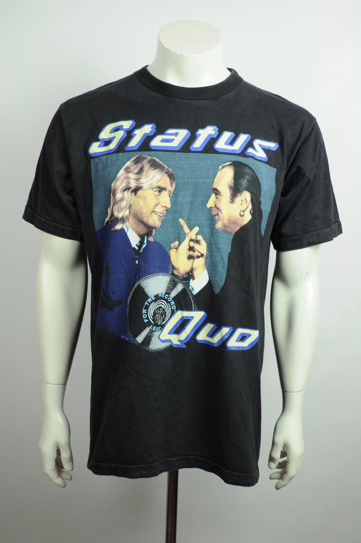Vintage Status Quo 1984 tour shirt chest 110cm 6JARc