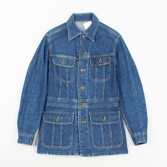 Vintage 70s Lee safari women denim jacket BLUE M