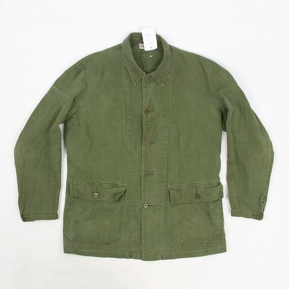 Vintage 70s Swedish Army jacket chore coat L