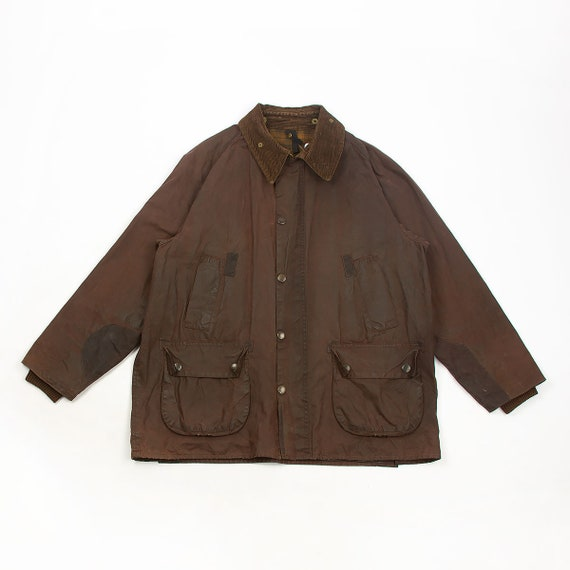 Vintage Barbour A103 Bedale repaired waxed jacket