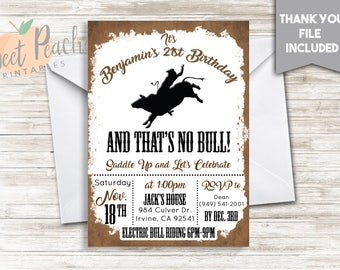 rodeo invitation etsy