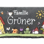 """Slate Door sign name sign """"garden"""" hand painted individually personalizable"""