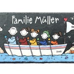Gift Door Sign Slate name Shield family in boat individual personalizable