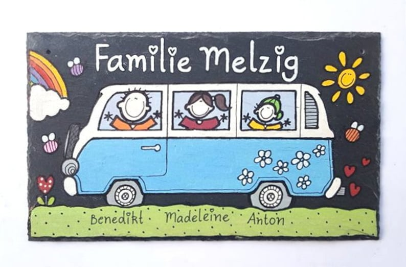 Personalized Door sign Family Slate image 0