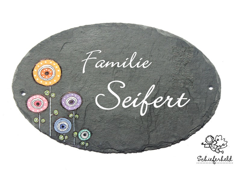 personalized door sign family oval image 0