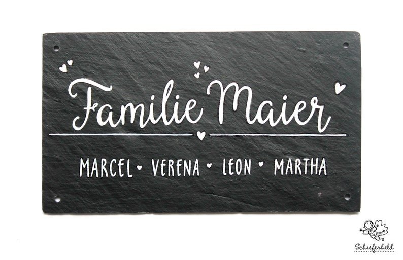 Door sign slate slate sign family sign name plate door sign image 0