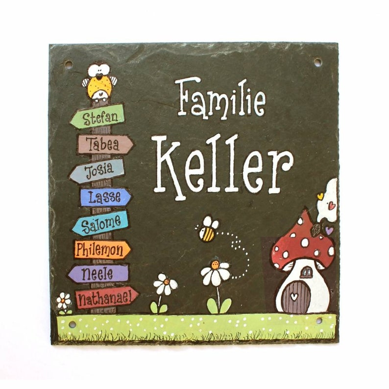 personalized door sign family image 0