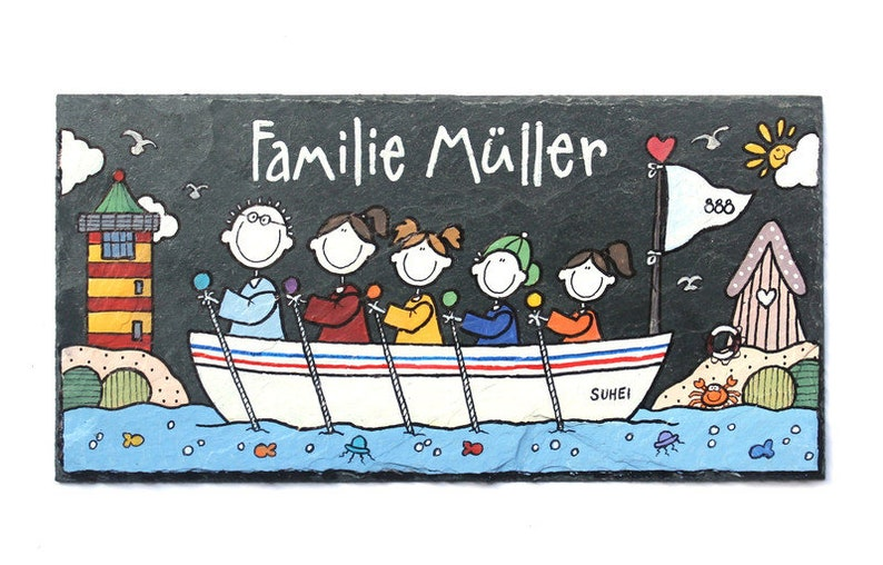Door sign family personalized maritim boat image 0