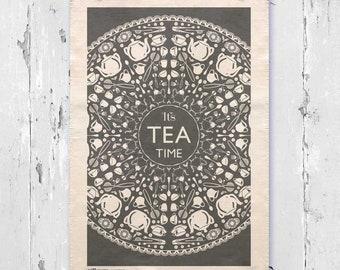 It's Tea Time Tea Towel