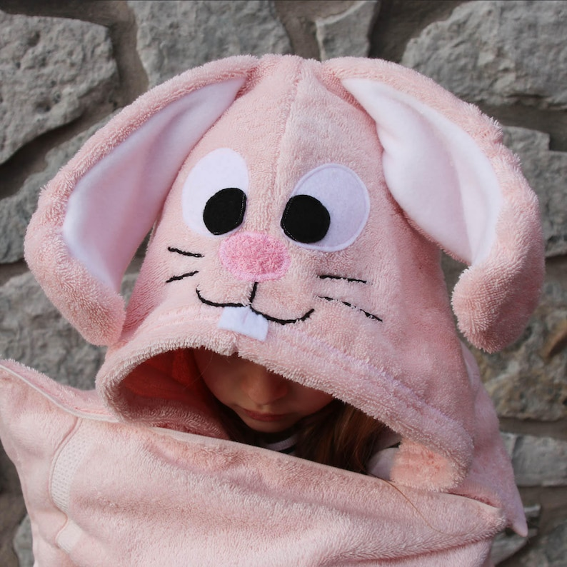 Bunny Hooded Towel for Teens  Easter Gift  Bunny Towel  Easter Bunny  Pink Bunny  Valentines Day Gift  Personalized Gift  Teen Gift