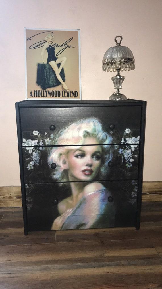 Sugar Coated New 3 Drawer Chest, Marilyn Monroe Bedroom Furniture