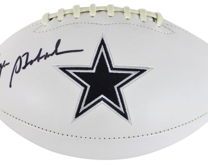 Roger Staubach Autographed Signed Dallas Cowboys Logo Football JSA