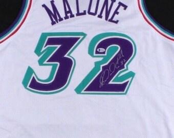 68232c875 Karl Malone Autographed Signed Utah Jazz Jersey BECKETT