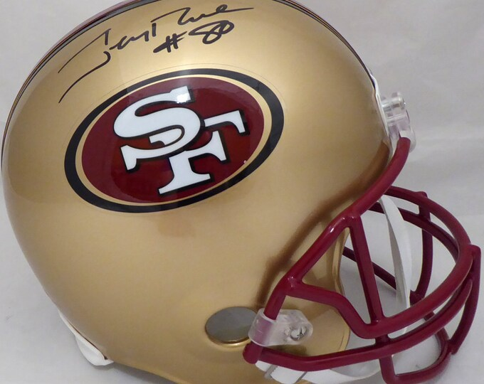 Jerry Rice Autographed Signed San Francisco 49ers Full Size Helmet BECKETT