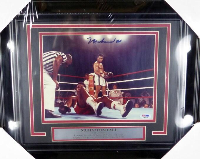 Muhammad Ali Autographed Signed Framed 8x10 Photo PSA/DNA