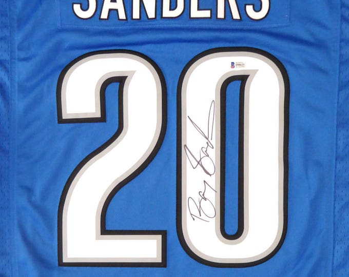 Barry Sanders Autographed Signed Detroit Lions Nike Jersey BECKETT