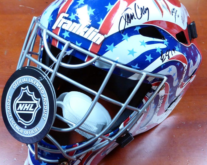1980 Miracle On Ice Team USA 20 Signatures Autographed Signed Franklin Hockey Goalie Mask PSA