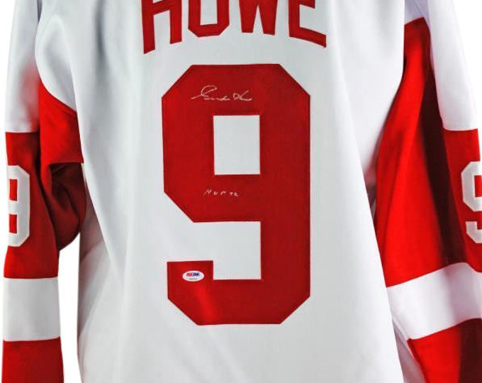 Gordie Howe Autographed Signed Detroit Red Wings Jersey PSA