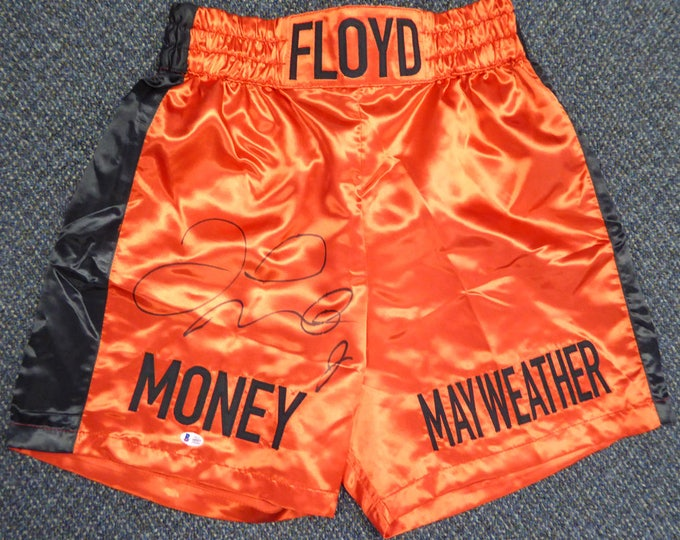 Floyd Mayweather Jr. Autographed Signed Boxing Trunks BECKETT